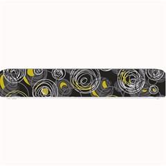 Gray and yellow abstract art Small Bar Mats