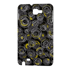 Gray and yellow abstract art Samsung Galaxy Note 1 Hardshell Case
