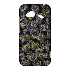 Gray and yellow abstract art HTC Droid Incredible 4G LTE Hardshell Case