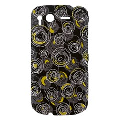 Gray and yellow abstract art HTC Desire S Hardshell Case