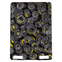 Gray and yellow abstract art Kindle Touch 3G