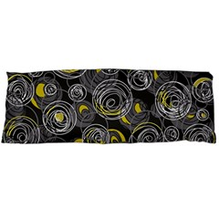 Gray and yellow abstract art Body Pillow Case Dakimakura (Two Sides)