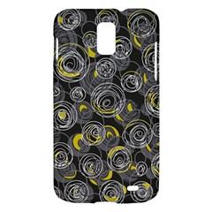 Gray and yellow abstract art Samsung Galaxy S II Skyrocket Hardshell Case