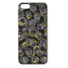 Gray and yellow abstract art Apple Seamless iPhone 5 Case (Clear)