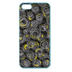 Gray and yellow abstract art Apple Seamless iPhone 5 Case (Color)