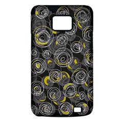 Gray and yellow abstract art Samsung Galaxy S II i9100 Hardshell Case (PC+Silicone)