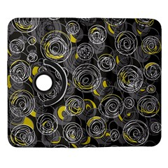 Gray and yellow abstract art Samsung Galaxy Note II Flip 360 Case