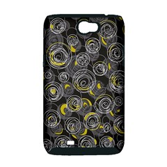 Gray and yellow abstract art Samsung Galaxy Note 2 Hardshell Case (PC+Silicone)