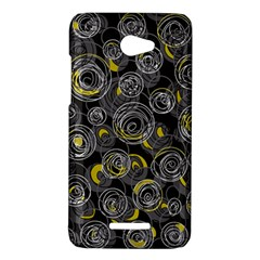 Gray and yellow abstract art HTC Butterfly X920E Hardshell Case