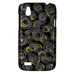 Gray and yellow abstract art HTC Desire V (T328W) Hardshell Case