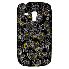 Gray and yellow abstract art Samsung Galaxy S3 MINI I8190 Hardshell Case