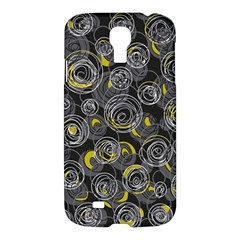 Gray and yellow abstract art Samsung Galaxy S4 I9500/I9505 Hardshell Case
