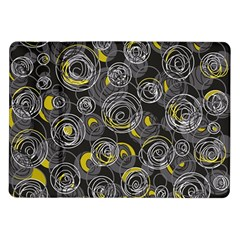 Gray and yellow abstract art Samsung Galaxy Tab 10.1  P7500 Flip Case