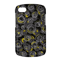 Gray and yellow abstract art BlackBerry Q10