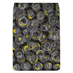 Gray and yellow abstract art Flap Covers (S)