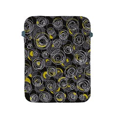 Gray and yellow abstract art Apple iPad 2/3/4 Protective Soft Cases