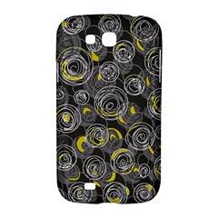 Gray and yellow abstract art Samsung Galaxy Grand GT-I9128 Hardshell Case