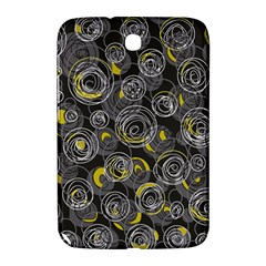 Gray and yellow abstract art Samsung Galaxy Note 8.0 N5100 Hardshell Case