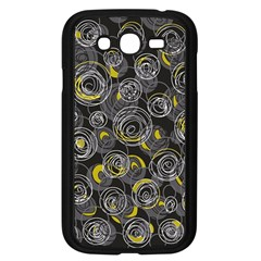Gray and yellow abstract art Samsung Galaxy Grand DUOS I9082 Case (Black)