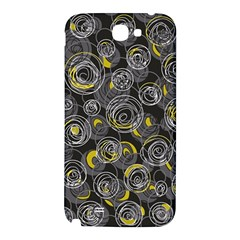 Gray and yellow abstract art Samsung Note 2 N7100 Hardshell Back Case