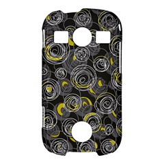 Gray and yellow abstract art Samsung Galaxy S7710 Xcover 2 Hardshell Case