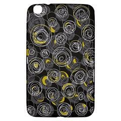 Gray and yellow abstract art Samsung Galaxy Tab 3 (8 ) T3100 Hardshell Case