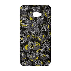 Gray and yellow abstract art HTC Butterfly S/HTC 9060 Hardshell Case