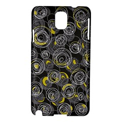 Gray and yellow abstract art Samsung Galaxy Note 3 N9005 Hardshell Case