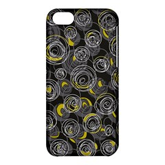 Gray and yellow abstract art Apple iPhone 5C Hardshell Case