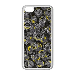 Gray and yellow abstract art Apple iPhone 5C Seamless Case (White)