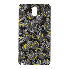 Gray and yellow abstract art Samsung Galaxy Note 3 N9005 Hardshell Back Case