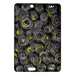 Gray and yellow abstract art Amazon Kindle Fire HD (2013) Hardshell Case