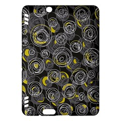 Gray and yellow abstract art Kindle Fire HDX Hardshell Case