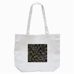 Gray and yellow abstract art Tote Bag (White)