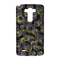 Gray and yellow abstract art LG G3 Hardshell Case