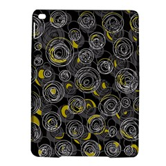 Gray And Yellow Abstract Art Ipad Air 2 Hardshell Cases