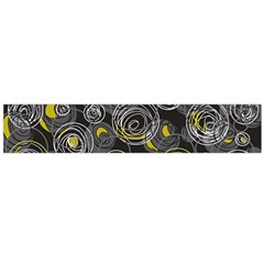 Gray and yellow abstract art Flano Scarf (Large)