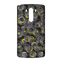 Gray and yellow abstract art LG G3 Back Case