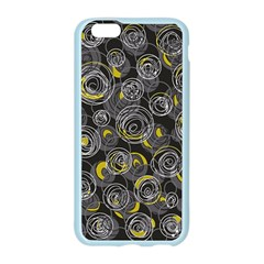 Gray and yellow abstract art Apple Seamless iPhone 6/6S Case (Color)
