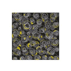 Gray and yellow abstract art Satin Bandana Scarf