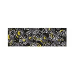 Gray and yellow abstract art Satin Scarf (Oblong)