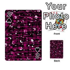 Magenta abstract art Playing Cards 54 Designs