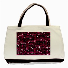 Magenta abstract art Basic Tote Bag (Two Sides)