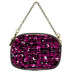 Magenta abstract art Chain Purses (One Side)