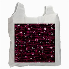 Magenta abstract art Recycle Bag (Two Side)