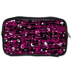 Magenta abstract art Toiletries Bags