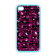 Magenta abstract art Apple iPhone 4 Case (Color)