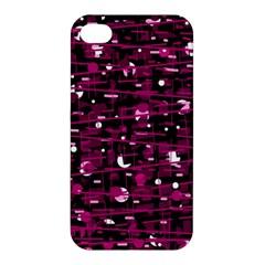 Magenta abstract art Apple iPhone 4/4S Premium Hardshell Case