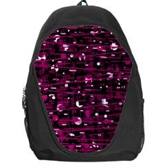 Magenta abstract art Backpack Bag