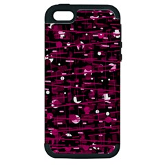 Magenta abstract art Apple iPhone 5 Hardshell Case (PC+Silicone)